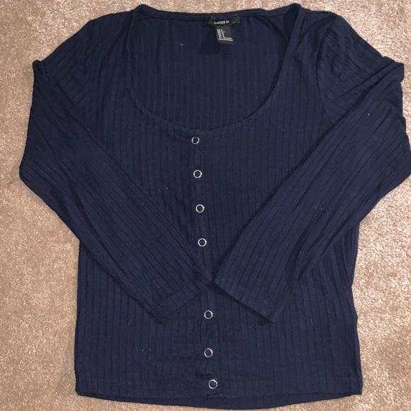 Navy blue half sleeve top